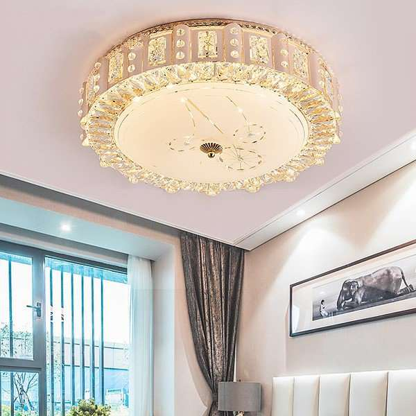 Iron Art,Glass,Crystal Study Room/ Bedroom,Restaurant,Cloakroom Plating European-style Ceiling Lamp