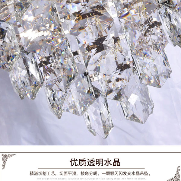 Iron Art,Crystal Villa/ The Hotel Lobby,Restaurant,Children's Room Electroplating Light Luxury Chandelier,11 Lights