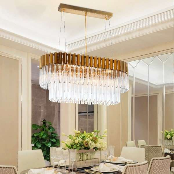 Crystal,Stainless Steel,Iron Art Restaurant,Other Brushed Hanging Postmodern Chandeliers,6 Lights