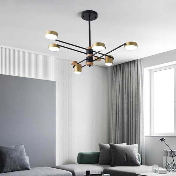 Iron Art Others,Study/ Bedroom,Living Room Spray Paint Frosted Postmodern Chandelier,6 Lights