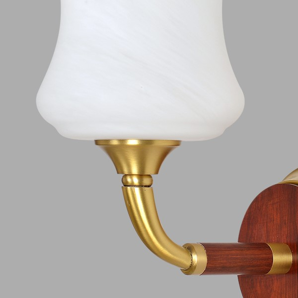 Glass,Copper,Wooden Corridor/ Aisle/ Entrance,Study/ Bedroom,Living Room Spray Paint Matte New Chinese Wall Lamp, Single Head