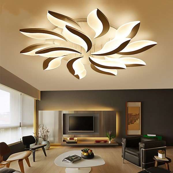 Acrylic,ABS Living Room,Villa/ Modern Ceiling Lamp After Painting And Sanding In Hotel Lobby