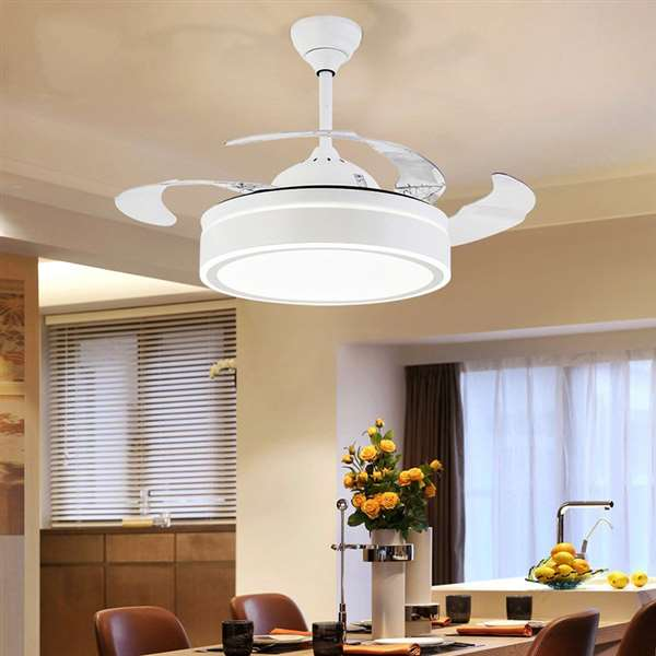 Iron Art,ABS,Acrylic Living Room,Study/ Bedroom,Restaurant Modern Minimalist Fan Light,1 Lights