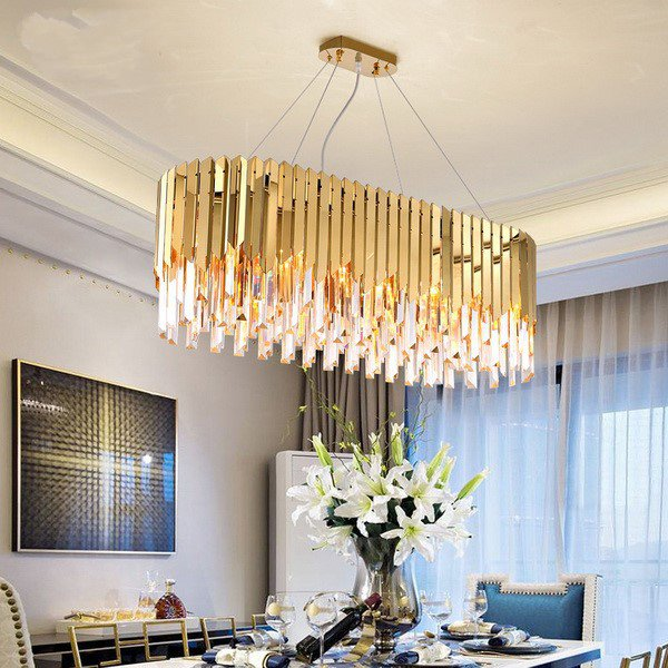 Crystal,Stainless Steel Restaurant,Other Other/other Postmodern Chandelier,10 Lights