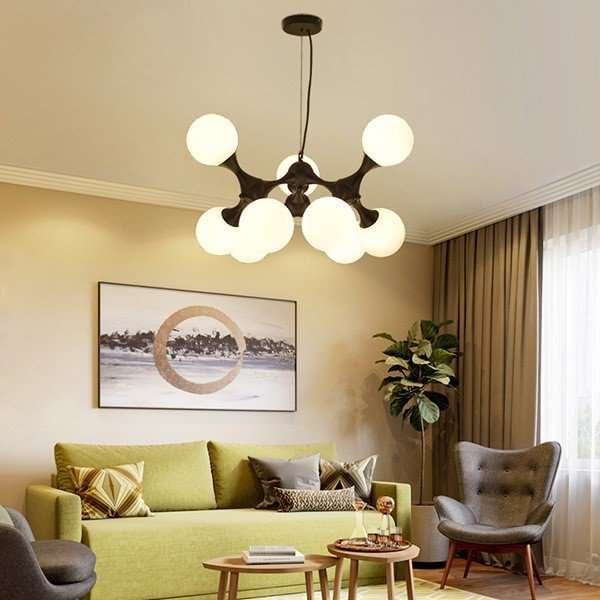 Iron Art,Glass,ABS Living Room,Restaurant Painting And Sanding Northern Europe\ IKEA Chandelier,9 Lights