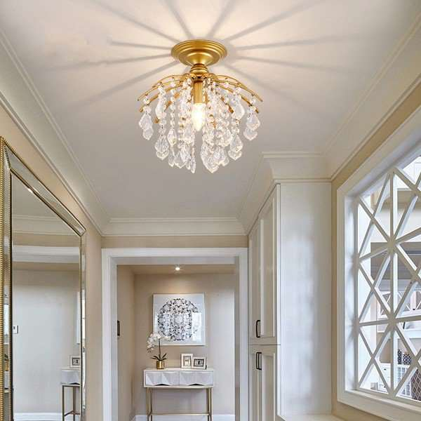 Iron Art,Crystal Corridor/ Aisle/ Entrance,Balcony Light Luxury Ceiling Lamp