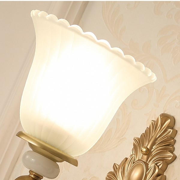 Zinc Alloy Living Room,Study/ Bedroom Spray Hand Painted European Wall Lamp, Double Head