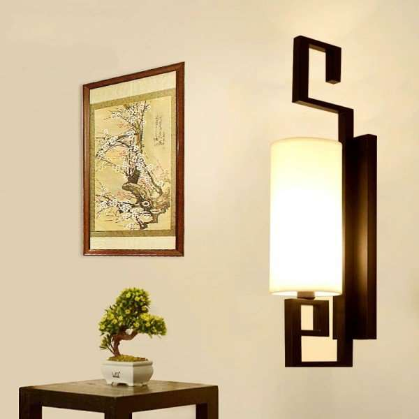 Iron Art,Cloth Living Room,Corridor/ Aisle/ Porch Hot Bend New Chinese Wall Lamp, Single Head