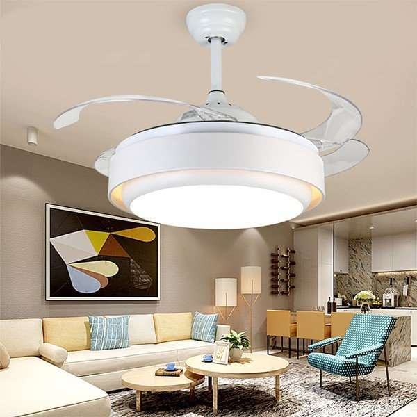 Iron Art,Acrylic,PC Restaurant,Living Room Electroplating Modern Simple Fan Light,1 Lights