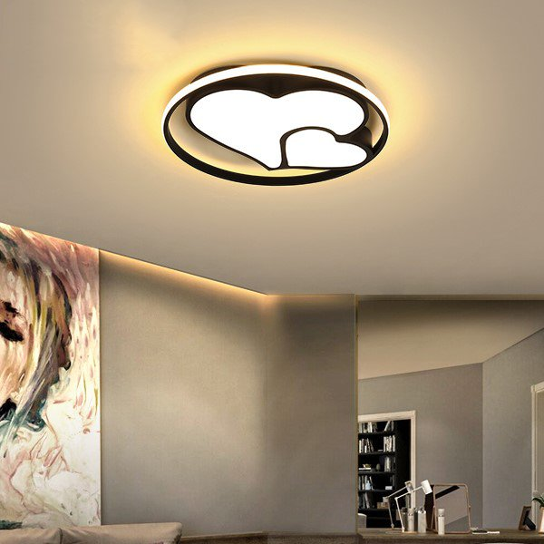 Iron Art,Aluminum Study Room/ Bedroom,Children's Room,Balcony Spray Paint Frosted Modern Minimalist Ceiling Lamp
