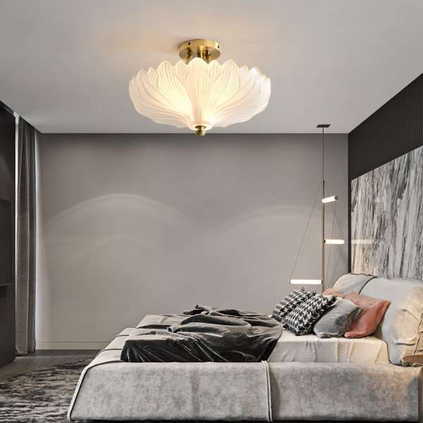 Copper,Glass Study Room/ Bedroom,Restaurant,Corridor/ Aisle/ Porch Post Modern Ceiling Lamp