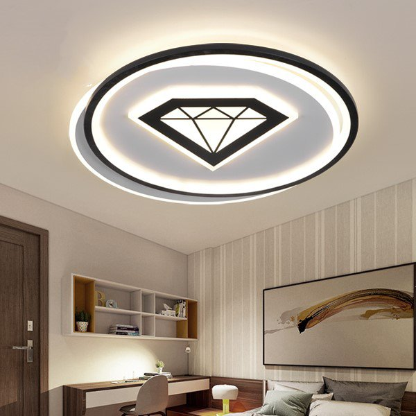 Iron Art,Acrylic Study Room/ Bedroom,Restaurant,Children's Room Spray Paint Frosted Modern Simple Ceiling Lamp