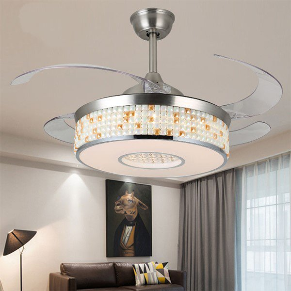 Glass,Crystal,Acrylic Restaurant,Living Room Electroplating Modern Simple Fan Light,1 Lights