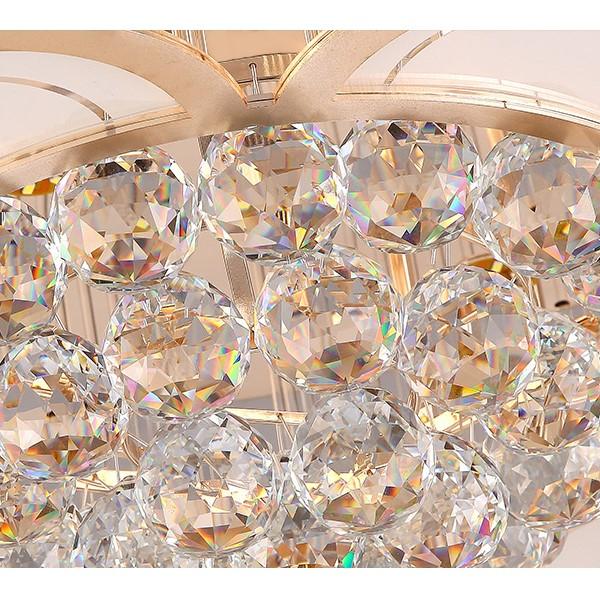 Crystal Study Room/ Bedroom Plating Modern Minimalist Ceiling Lamp