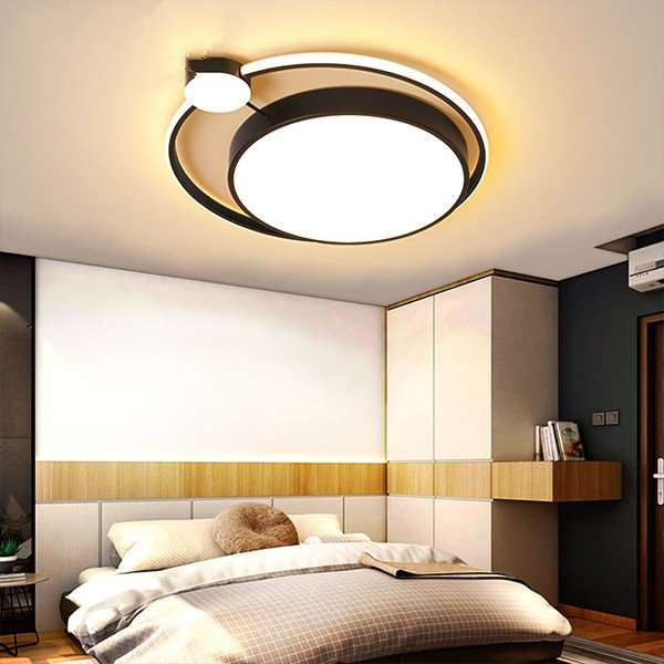 Iron Art,Aluminum,Acrylic Study Room/ Bedroom,Restaurant,Children's Room Spray Paint Frosted Modern Simple Ceiling Lamp