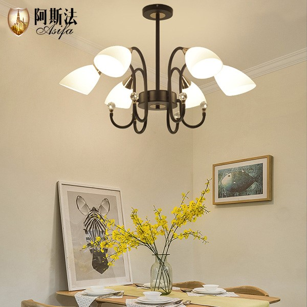 Iron Art,Glass Living Room,Study/ Bedroom,Restaurant Painting And Sanding Northern Europe\ IKEA Chandelier,10 Lights