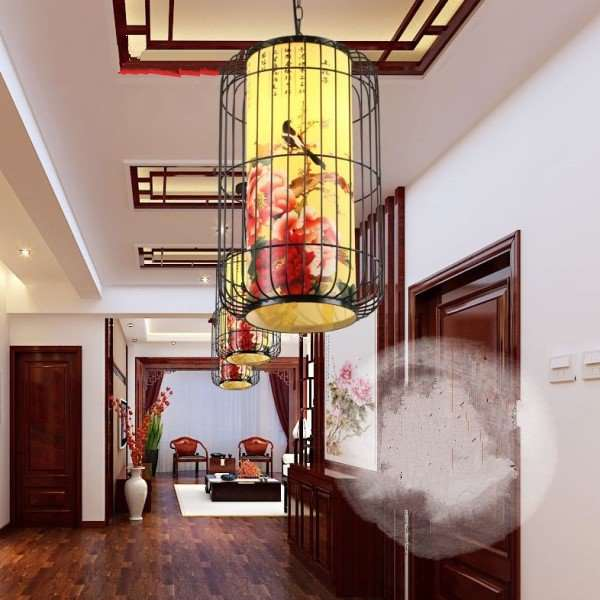 Iron Art,Cloth Restaurant,Chess Room/ Mahjong Hall New Chinese Chandelier,1 Lights