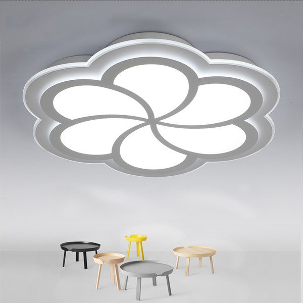 Iron Art,Acrylic Living Room,Study/ Bedroom Spray Paint Frosted Modern Minimalist Ceiling Lamp