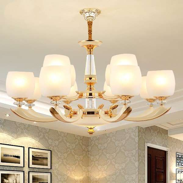 Glass,Crystal,Zinc Alloy Study Room/ Bedroom,Living Room,Villa/ Electroplated European Chandelier In Hotel Lobby,12 Lights