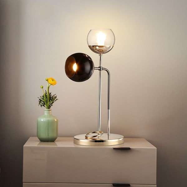 Iron Art,Glass Living Room,Study/ Bedroom,Post Modern Table Lamp For Electroplating In Cloakroom