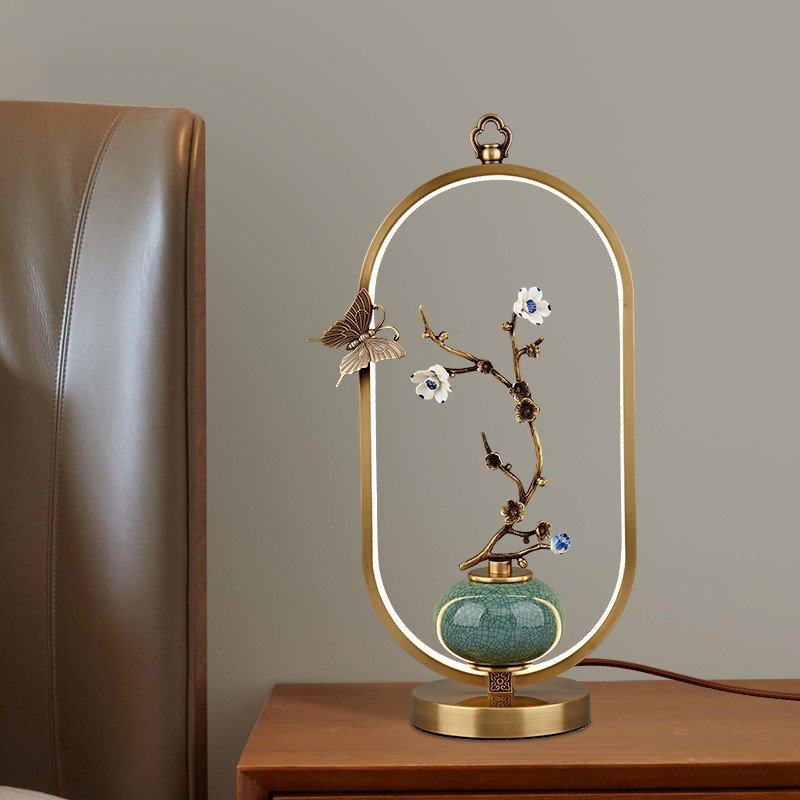 Copper,Ceramics,Acrylic Living Room,Study/ Bedroom,Corridor/ Aisle/ Porch Brushed Hanging New Chinese Table Lamp