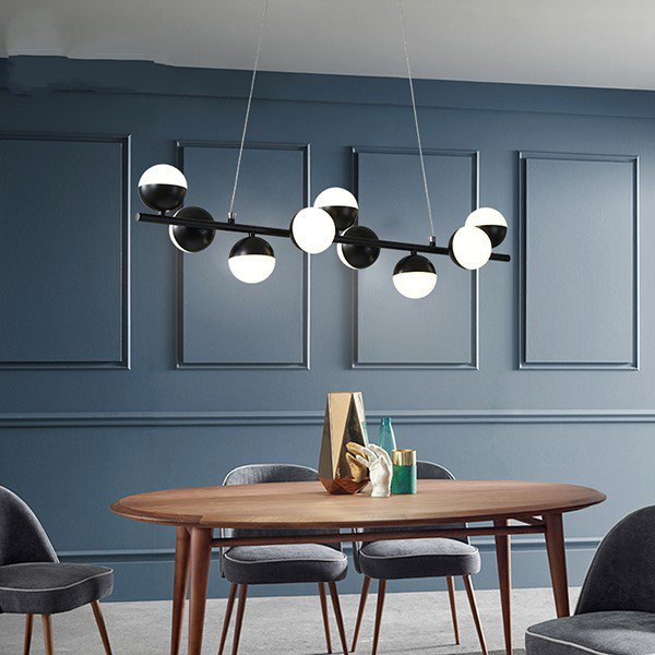 Iron Art,Acrylic Study Room/ Bedroom,Restaurant Painted Frosted Post Modern Chandelier,9 Lights
