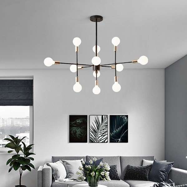 Iron Living Room,Restaurant,Other Spray Paint Frosted Postmodern Chandelier,12 Lights