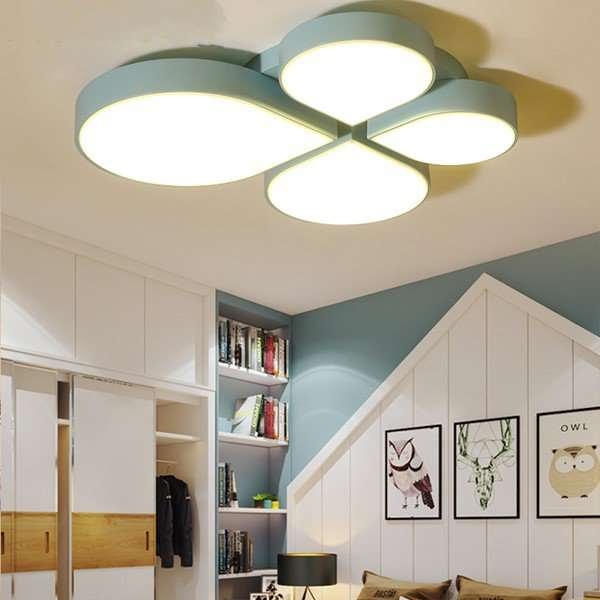 Iron Art,Acrylic Restaurant,Study/ Bedroom Spray Paint Frosted Modern Minimalist Ceiling Lamp