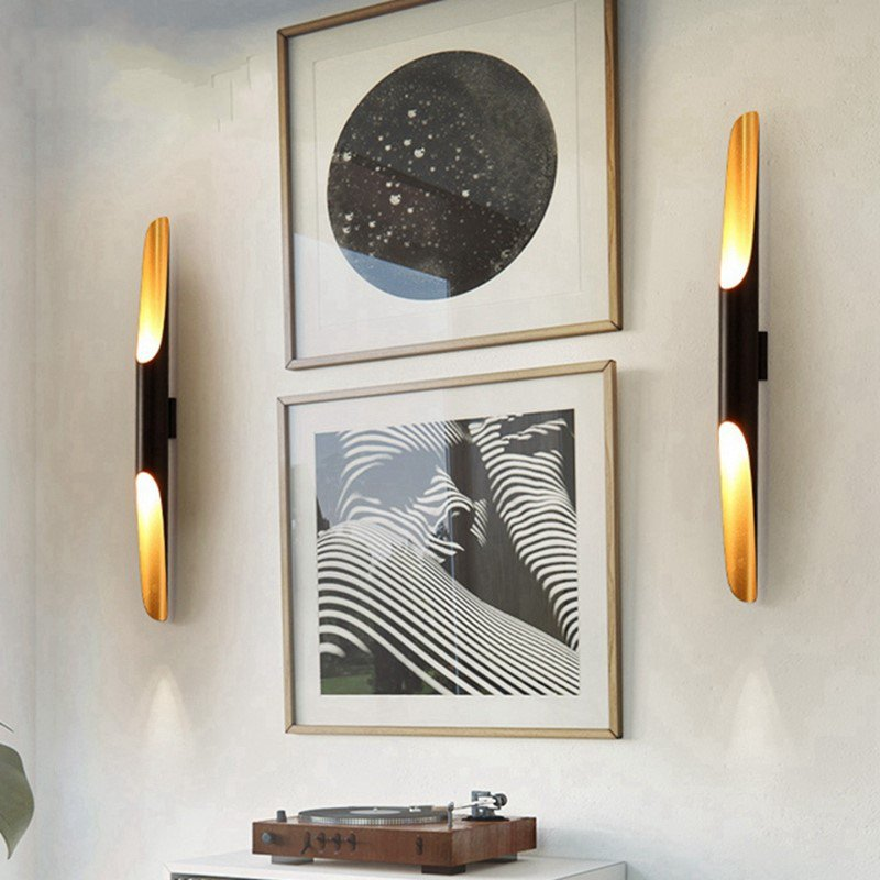 Iron Art,Aluminum Study Room/ Bedroom,Restaurant Painted Frosted Retro Wall Lamp, Double Head