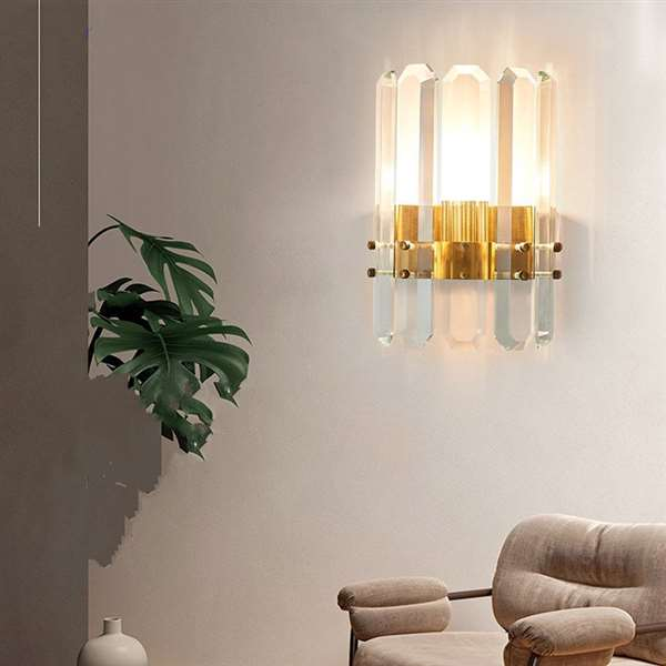 Crystal,Stainless Steel Living Room,Corridor/ Aisle/ Entrance,High Level/ Compound Light Luxury Wall Lamp, Single Head