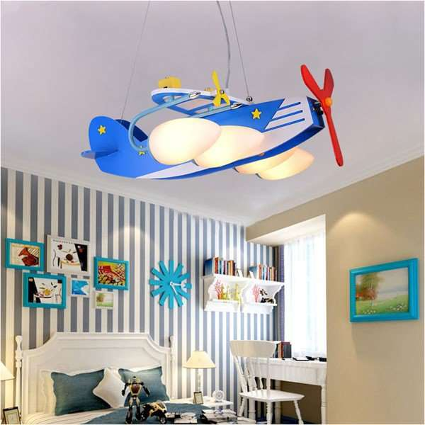 Glass,Wooden Children's Room Other/other Children/ Cartoon Chandelier,4 Lights