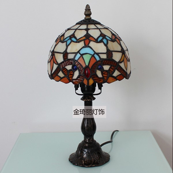 Glass,Resin Pastoral Table Lamp