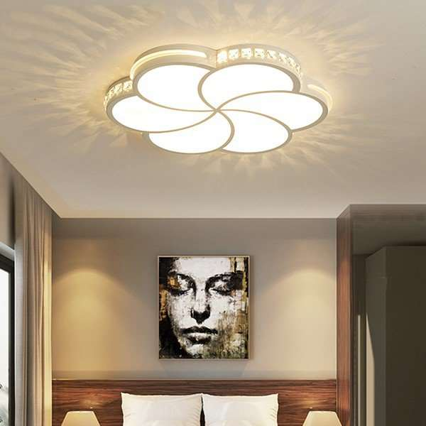 Iron Art,Acrylic Study Room/ Bedroom,Restaurant Spray Matte Modern Minimalist Ceiling Lamp