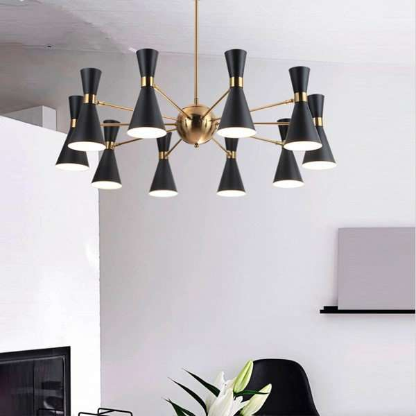 Iron Art Restaurant,Living Room Nordic\ IKEA Chandelier,10 Lights