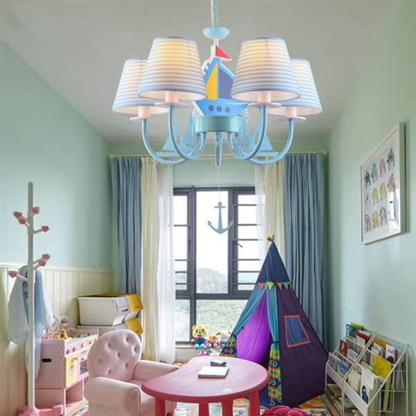 Iron Art,Wood Art,Cloth Children's Room,Study/ Bedroom Spray Paint Frosted Simple European Chandelier,5 Lights