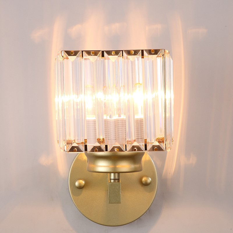Iron Art,Crystal Living Room,Corridor/ Aisle/ Entrance,Stairs/ Corner Light Luxury Wall Lamp, Single Head