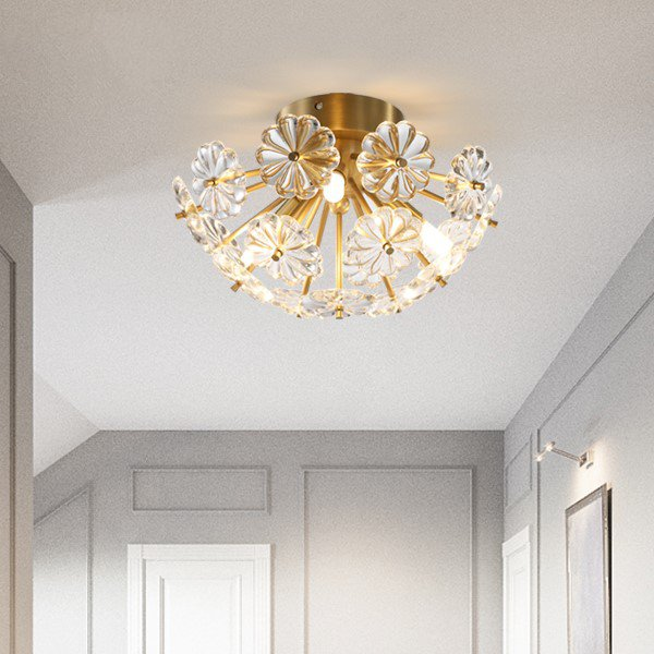 Crystal,Copper Cloakroom,Balcony,Stairs/ Corner,Children's Room,Corridor/ Aisle/ Entrance,Restaurant,Study/ Bedroom Spray Paint Frosted Postmodern Ceiling Lamp