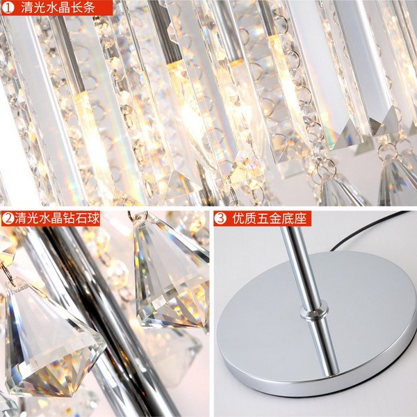 Iron Art,Crystal Living Room,Study/ Bedroom Electroplated Postmodern Floor Lamp