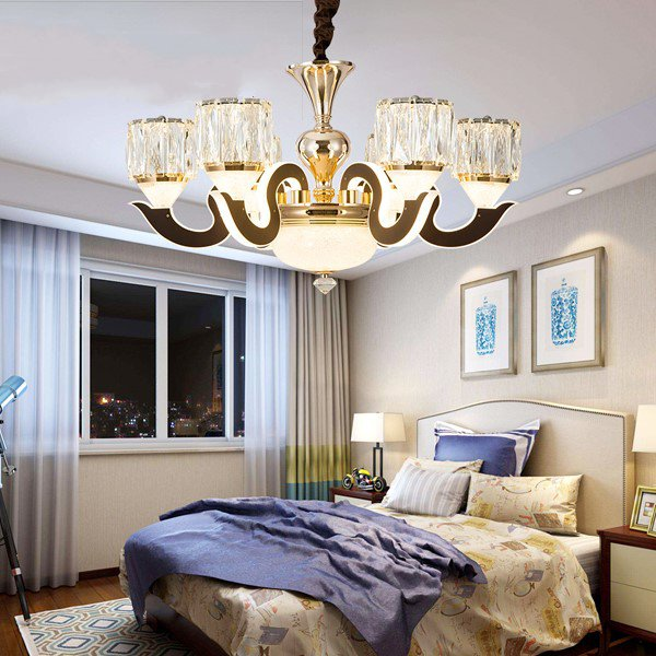 Iron Art,Glass,Crystal,Acrylic,Stainless Steel Chess Room/ Mahjong Museum,Cloakroom,High Level/ Duplex,Stairs/ Corner,Children's Room,Audio-visual Room,Villa/ The Hotel Lobby,Corridor/ Aisle/ Entrance,Restaurant,Study/ Bedroom,Living Room Carved Modern Minimalist Chandelier,6 Lights