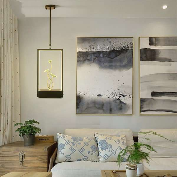 Iron Art,Aluminum,Ceramic Living Room,Study/ Bedroom,Restaurant Hot Bend New Chinese Chandelier,1 Lights