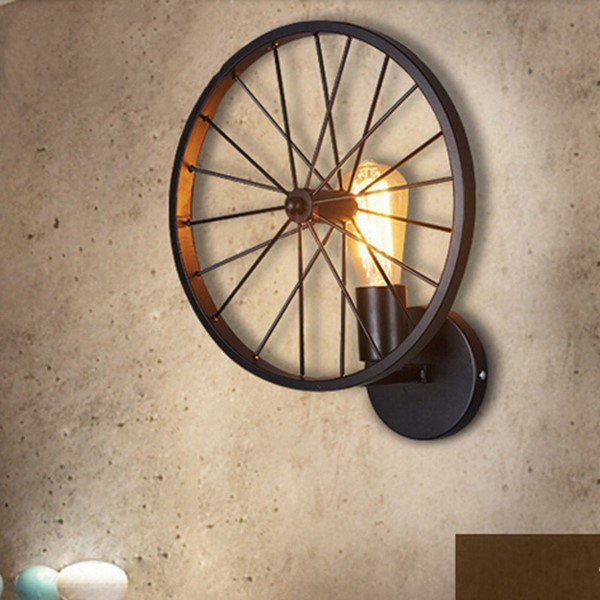 Iron Art Study Room/ Bedroom,Restaurant Spray Sanding Industrial Wind Wall Light, Single Head