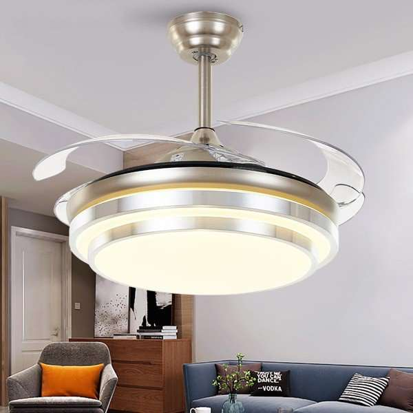 Acrylic Restaurant,Living Room Electroplating Modern Simple Fan Light,1 Lights