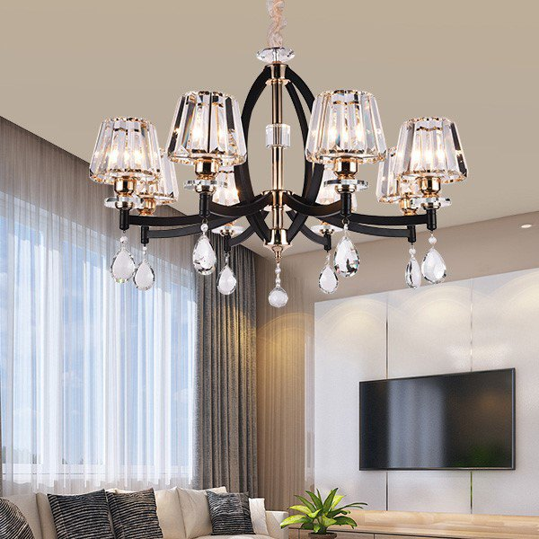 Iron Art,Crystal Restaurant,Other,Living Room Post Modern Chandelier,8 Lights