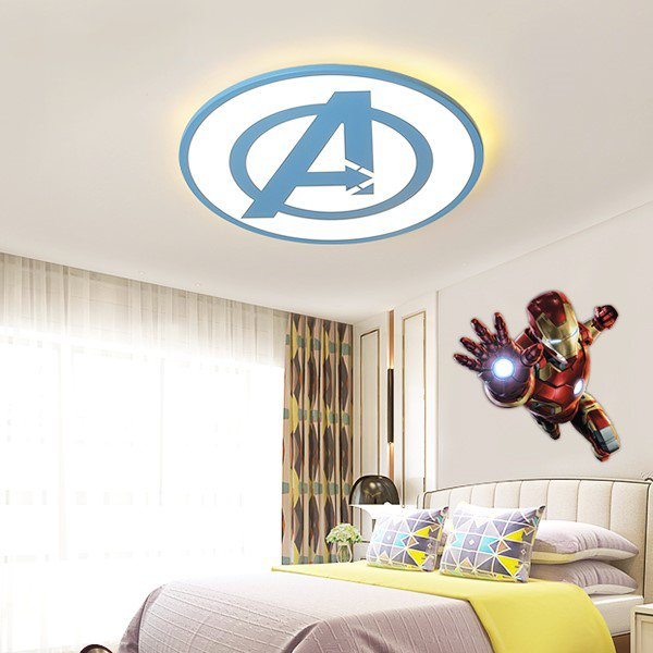 Iron Art,Acrylic Children's Room Spray Paint Frosted Children/ Cartoon Ceiling Lamp