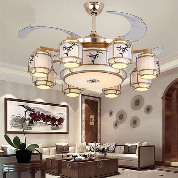 Iron Art,PC Restaurant,Study/ Bedroom,Living Room Plating New Chinese Fan Light,1 Lights
