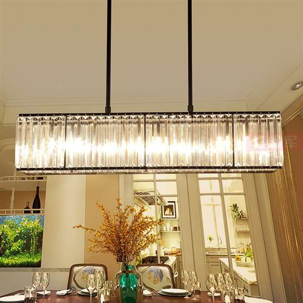 Iron Art,Crystal Study Room/ Bedroom,Restaurant Painted Matte Modern Minimalist Chandelier,3 Lights