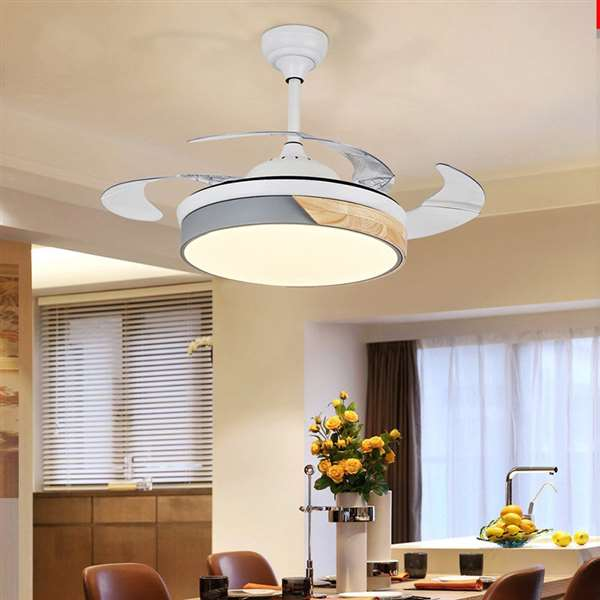 Iron Art,ABS,Wooden Living Room,Study/ Bedroom,Restaurant Painted Matte Modern Minimalist Fan Light,1 Lights