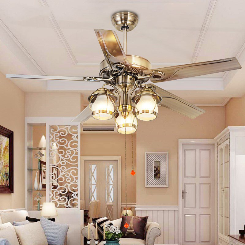 Iron Living Room,Restaurant,Stairs/ Corner European Fan Light,3 Lights