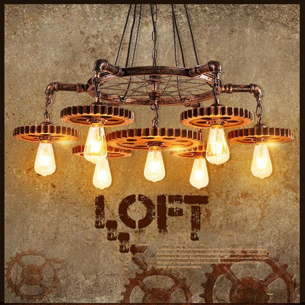 Iron Art Corridor/ Aisle/ Entrance,High Level/ Duplex Other/other Retro Chandelier,7 Lights