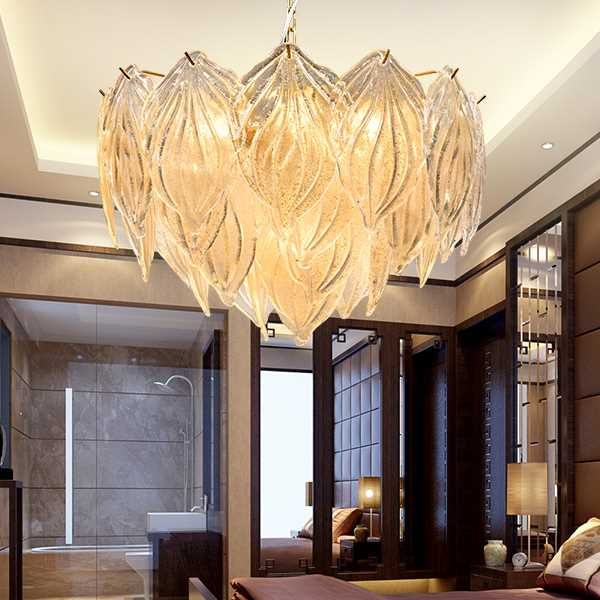 Iron Art,Glass Study Room/ Bedroom,Restaurant Plated Modern Minimalist Chandelier,9 Lights